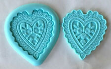 Heart Lace 2 pc. Silicone Mold