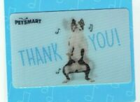 PETSMART Gift Card Lenticular Pug Dog Dancing, Thank You - No Value - I Combine
