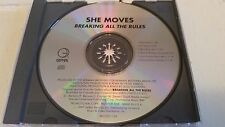 SHE MOVES BREAKING ALL THE RULES RARE 6 MIX PROMO CD FREE SHIPPING