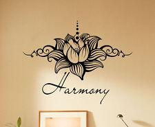 Lotus Flower Wall Decal Yoga Namaste Vinyl Sticker Harmony Home Decor 31(nse)