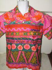 1d14ffbc Psychedelic trippy 1960's vintage Hawaiian shirt Men's Medium Acrylic
