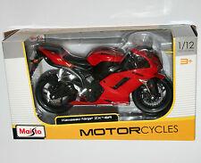 Maisto-Kawasaki Ninja ZX-6R (Rojo) - Escala 1:12 Modelo de la motocicleta