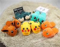 Women Cartoon Cute Pokemon Go Soft Plush Slippers Indoor Shoes Home Slipper