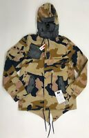 Play Cloths Tan Navy Camouflage Demon Parka Mens Sample Size L Nice New Rare