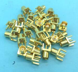 20PCS 5-Pin 50Ohm MCX Socket female plug straight COAXIAL mount plug Slant pin