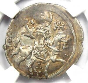 Byzantine Trebizond Alexius II AR Asper Coin 1297-1330 AD - NGC Choice XF (EF)