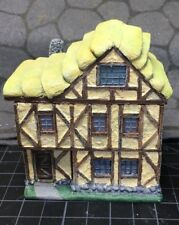 15 mm Painted European Tudor style 3 story Thatch house building with interior