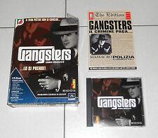 Gioco Pc Cd GANGSTERS Crimine organizzato BIG BOX ITA 1998 Mafia Al Capone