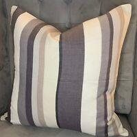 "John Lewis ""Alvar"" Fabric Cushion Cover Grey 16"" Contemporary irregular stripe"