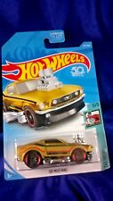 Hot Wheels '68 Mustang Gold Tooned Series #5/5 Die-Cast Exposed Engine Mattel