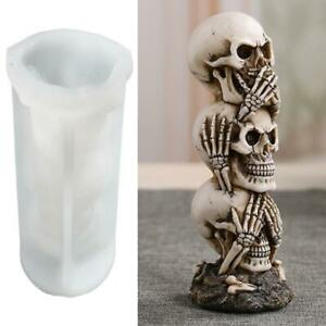 Large Punk Skull Candle Silicone Mold Resin Artwork Christmas Parties Supplies