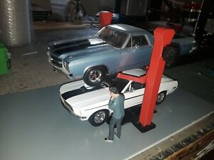 1:18 Scale Model Car Lift 2 Post for Garage Diorama 1/18th Scale