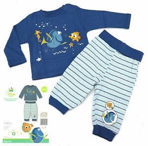 Disney Baby Schlafanzug 2-teilig Findet Nemo Dorie blau Pyjama 62 - 92 Typ512