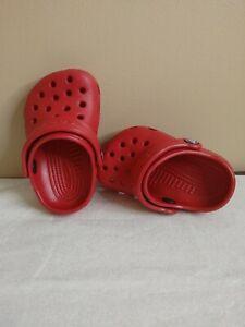 Crocs Baby Size 2/3 Dark Red