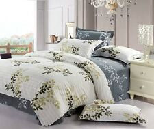 Brand New 3 Pieces 400 thread SPRING AROMA DOUBLE Size Duvet Doona Cover Set