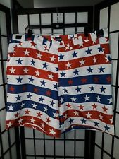Men's XXL Novelty American Flag Shorts USA Red White Blue Stars & Stripes