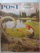 Saturday Evening Post Magazine   May 16, 1953    John Clymer Cover   VINTAGE ADS