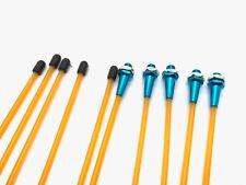 """5pcs 12.5"""" Orange/Blue RC Antenna Tube Universal w/Cap & Metal M6 Antenna Mount"""
