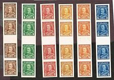 CANADA 217-222 PROOF VF CARD MOUNTED INDIA PAPER INTERPANNEAU GUTTERS (FAY27