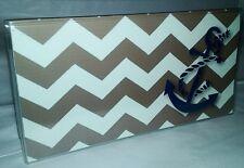 Checkbook Cover Chevron Stripes Anchor Makes a Great Gift!