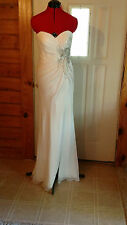 Faviana glamour Size 6 Ivory Wedding  Pageant, formal dress, costume