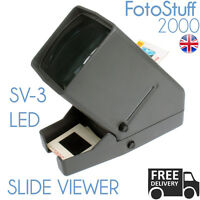 PHOTOLUX SV-3 LED Daylight Desktop Slide Viewer 3x Magnification for 35mm Slides