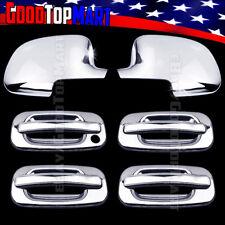 For Chevy SILVERADO 2000-2005 2006 Chrome Covers Set Full Mirrors+4 Doors w/o PK