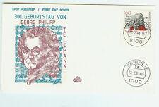 BRD FDC primero etiquetas carta 1981 Georg Philipp Telemann mi.nr.1085