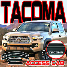 2016-2018 Tacoma Access Extended Cab Window Deflector Visor Vent Shade with Logo