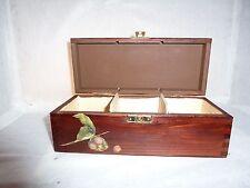 Wooden Tea Box Tea bag Storage Decoupage by Lithuanian artist Agne Lietuviska