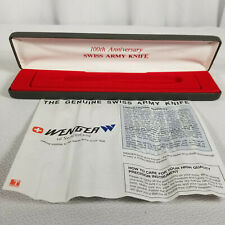 Wenger 100th Anniversary Swiss Army Knife Box ONLY  - NO KNIFE INCLUDED!