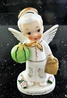 Napco 1956 August Boy Angel with Watermelon and Basket A1924