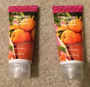 Bath & Body Works Lot of 2 Fresh Picked Tangerines Hand Cream 59 ml NEW