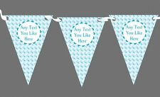 Baby Blue Dolphin Nautical Sailing Beach Seaside Themed Personalised Bunting