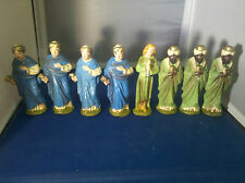 (Lot of 8) Vintage Wise Men Christmas Navity Italy