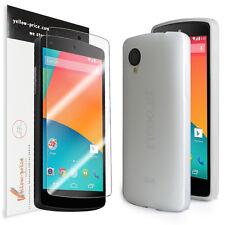 LG Google Nexus 5 [Clear] Ultra Fit Flexible TPU Case / Clear Screen Protector