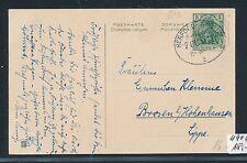 86437) Bahnpost Ovalstempel, Herford - Bassum ZUG 911, Kte um 1910