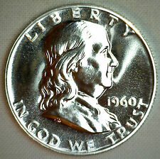 1960 Silver Franklin Proof Half Dollar Coin 50c Fifty Cents MADE IN AMERICA