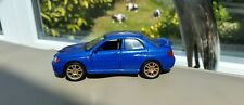 Diecast 1:40 Subaro Impreza WRX S11 Blue with Gold Wheels