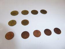 Münzen, Bank Deutscher Länder 1949, 11 Stück und 12 Stück DDR 1948