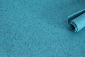 Filzplatte 30x50cm, 100% Merino-Wollfilz, lagune-meliert, 2-3mm,