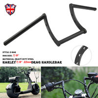 "Motorcycle Black 7/8"" 22mm Z Drag Bar Handlebar For Harley Yamaha Suzuki Honda"