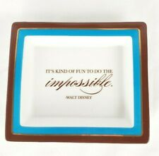 """Walt Disney Trinket Candy Dish """"It's Kind Of Fun To Do The Impossible"""" Two's Co"""