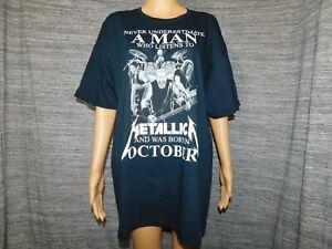 Metallic October Inspired Short Sleeve Black T-Shirt X-Large Unisex