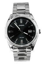 Mens Watch Casio Mtp-1302d-1a1 Steel Bracelet Classic Vintage Black 50mt