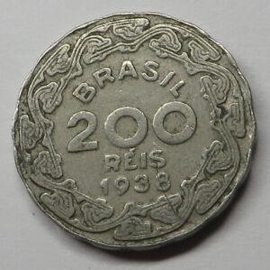 Brazil 200 Reis 1938 Copper-Nickel KM#545