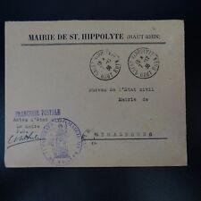 ALSACE LORRAINE LETTERA COVER CAD SAN HIPPOLYTE 1936