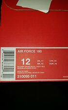 NIKE AIR FORCE 180 MID SZ 12 BLACK WHITE ROYAL BLUE RED BARKLEY 310095 011