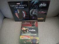 9 Marvel DVD Lot - Avengers 3 Movie Collection, Captain America & Thor Trilogy