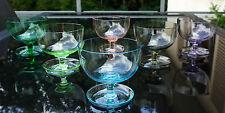 6 Süssmuth Eisschalen - Dessertschalen Art Deco um 1930  Buntes Kristallglas Nr2